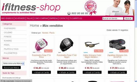 La cadena de gimnasios ifitness abre una tienda online de for Cadena gimnasios
