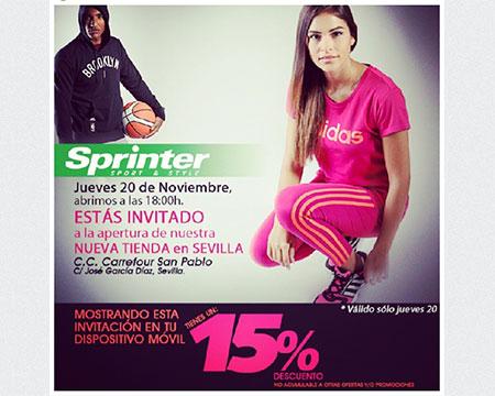 Sprinter alcanza las 75 tiendas con una nueva apertura en Sevilla