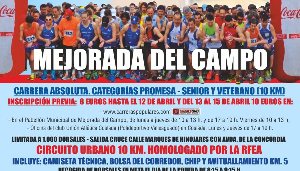 XXXII CARRERA POPULAR 10 KM MEJORADA DEL CAMPO