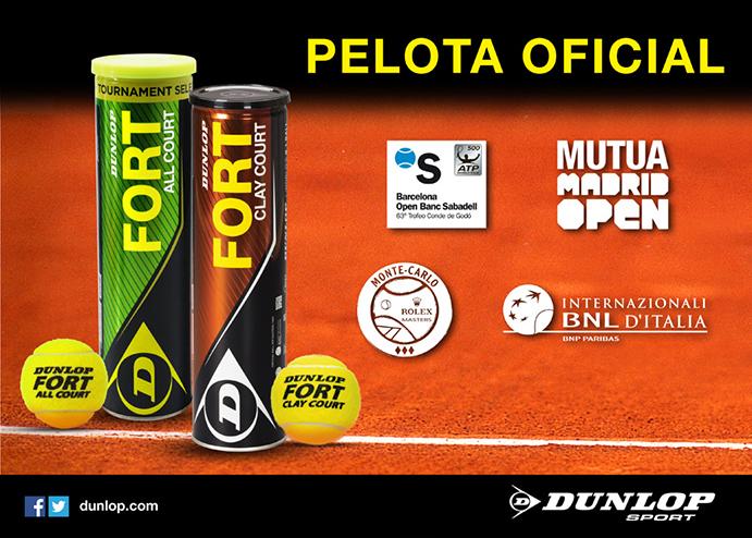 Dunlop renueva su patrocinio con los principales torneos de tierra batida
