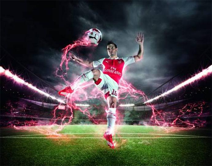 Puma y el Arsenal convierten en una fiesta la presentación de la nueva equipación