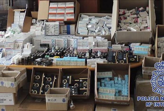 Incautados 120 kilos de anabolizantes en una tienda de Madrid
