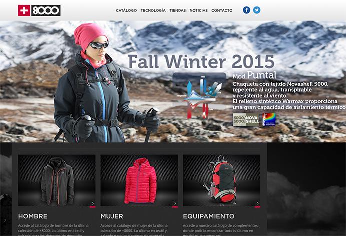 La nueva colección de frío, protagonista en la web de +8000