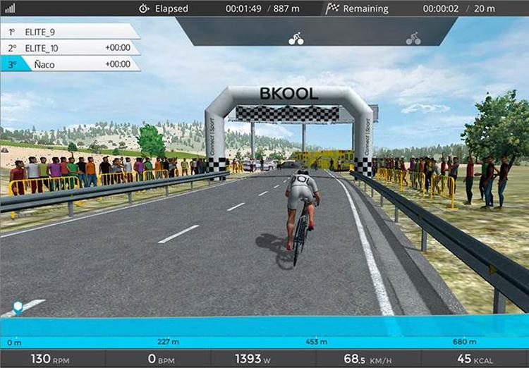 La bicicleta Keiser se conecta al sistema Bkool Simulator