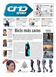 Portada principal de la revista impresa CMDsport número 368 correspondiente a septiembre 2015.