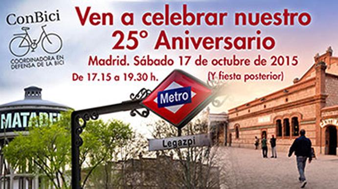 ConBici celebra sus 25 años de trayectoria