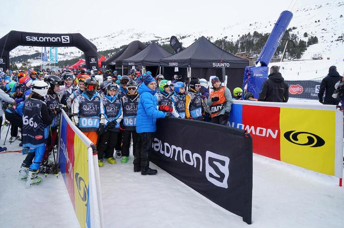 El Salomon Quest Challenge de Grandvalira supera los 450 esquiadores