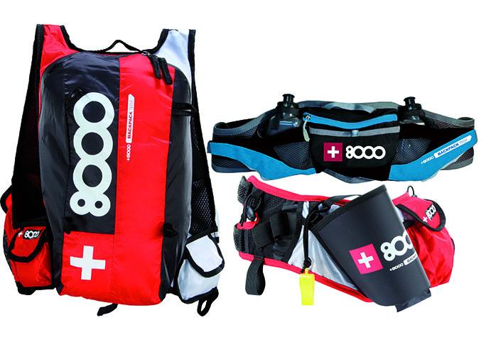 +8000 amplía su gama de mochilas de hidratación