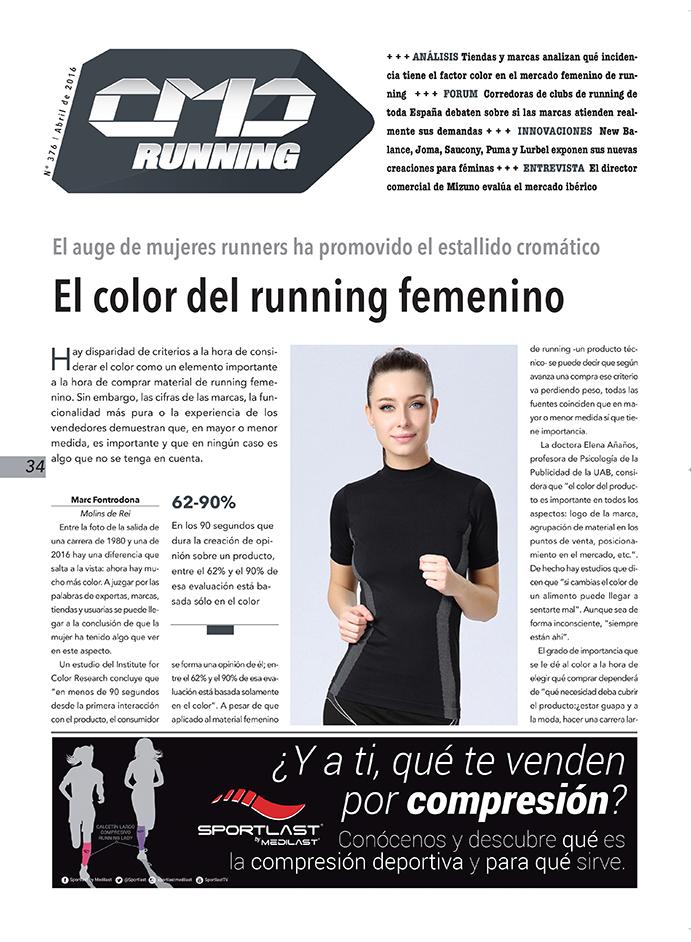 La importancia del color en el material de running femenino