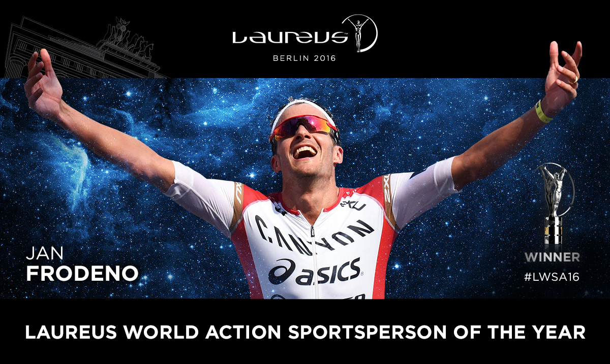 Jan Frodeno recibe el Laureus al mejor atleta de acción del año