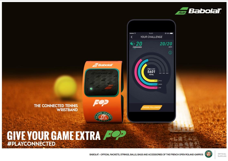 Babolat Pop Roland-Garros, la primera pulsera de tenis conectada