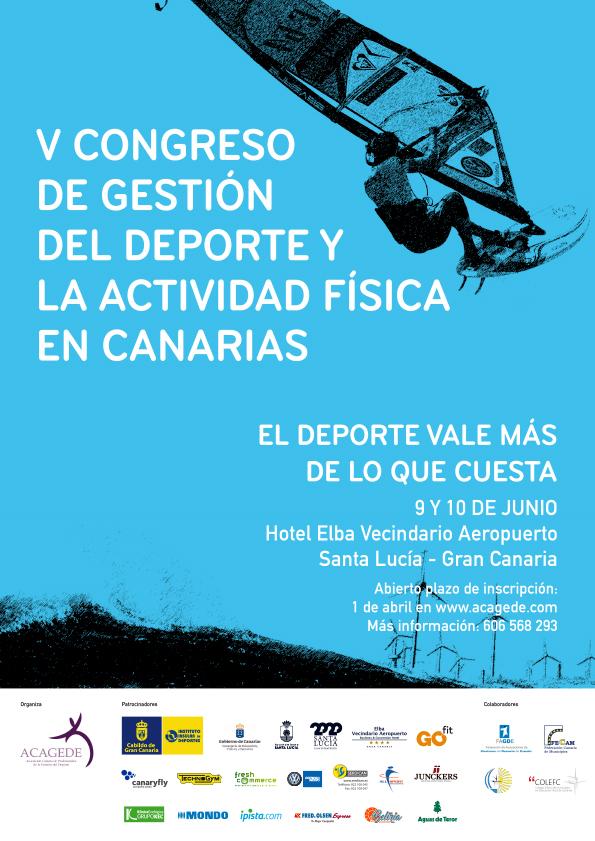 El V Congreso de Gestión del Deporte y la Actividad Física en Canarias se celebrará en junio