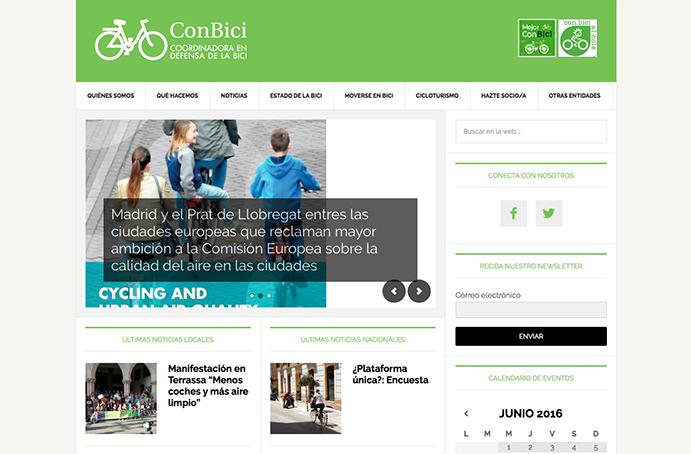 Conbici estrena nueva página web