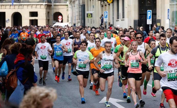 Iñaki Rey gana por tercera vez el San Fermín Marathon