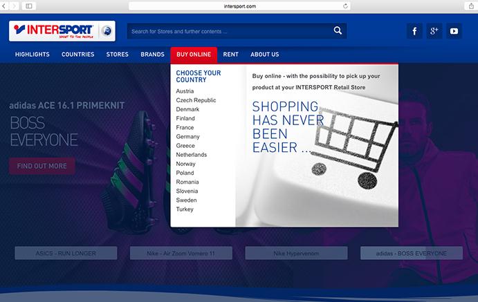 Intersport ya vende online en trece países