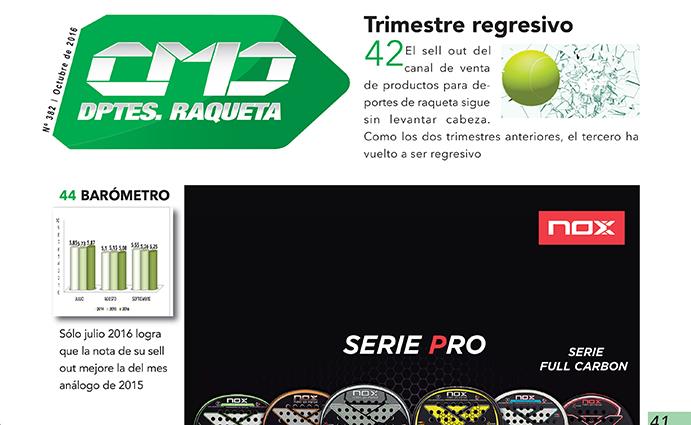 Las ventas del mercado de raqueta siguen sin levantar cabeza