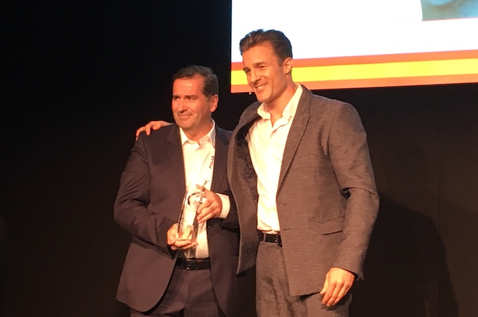 Gabriel Sáez, premiado en el Congreso Europeo de la IHRSA de Sevilla