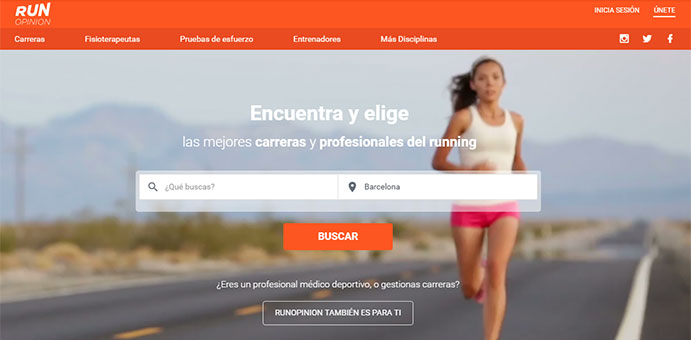 Nuevo portal para opinar sobre carreras y profesionales sanitarios del running