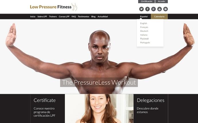 Low Pressure Fitness lanza su nuevo portal web en 7 idiomas
