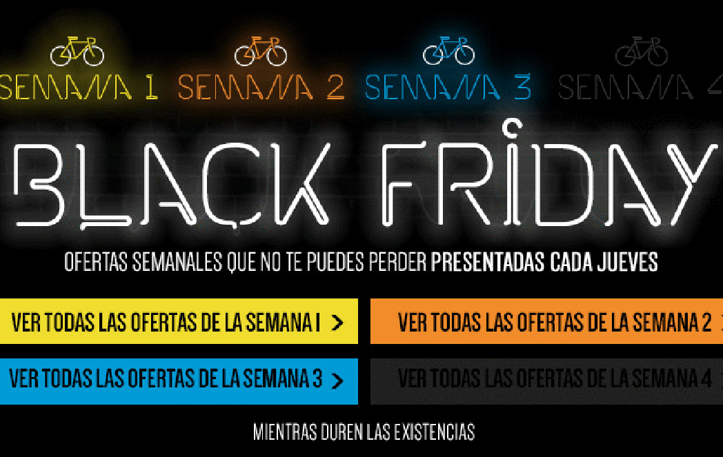 El mercado ciclista se rinde al Black Friday