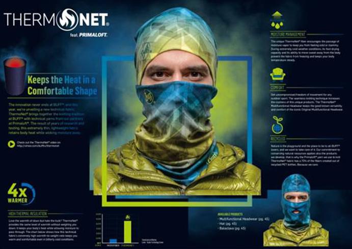 Buff desarrolla un nuevo tejido térmico en colaboración con Primaloft