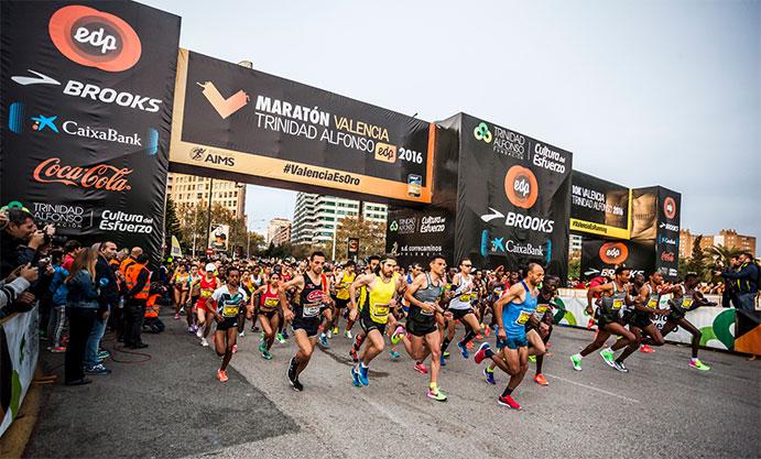 Récord femenino en un maratón de Valencia de oro