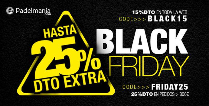 Padelmanía ofrece descuentos de hasta el 25% por el Black Friday