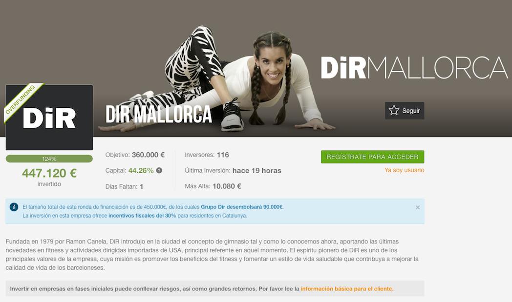 Dir cierra el crowdfunding de 450.000 euros en menos de 20 días