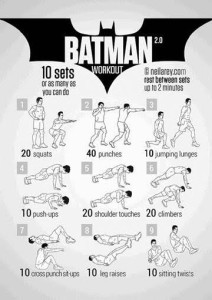 Rutina fitness Batman