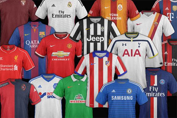 Las camisetas de equipos de fútbol más vendidas en el mundo