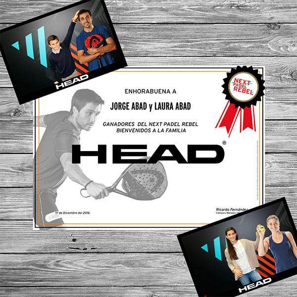 El programa Next Head Pádel Rebel 2017 ya tiene ganadores