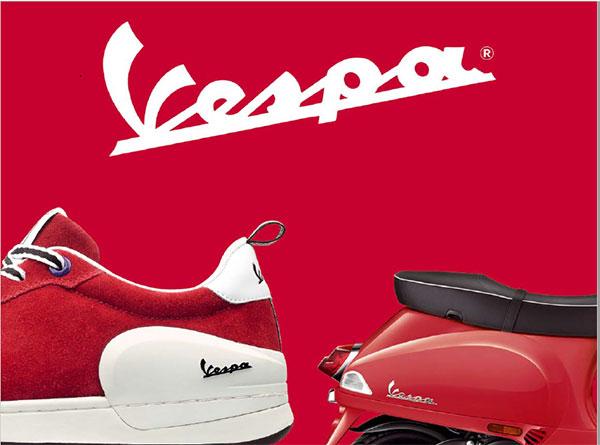 Las motos Vespa se introducen en el mercado de los sneakers