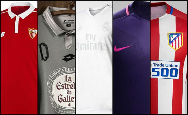 """Las cinco camisetas """"más bonitas"""" de La Liga Española, según los italianos"""