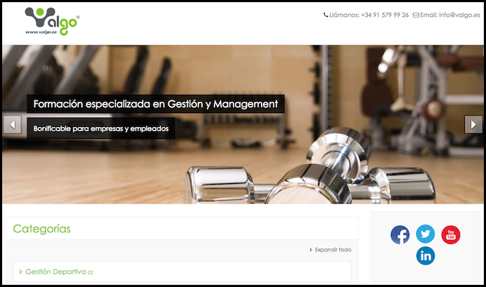 Valgo lanza una aula virtual de formación en management y gestión
