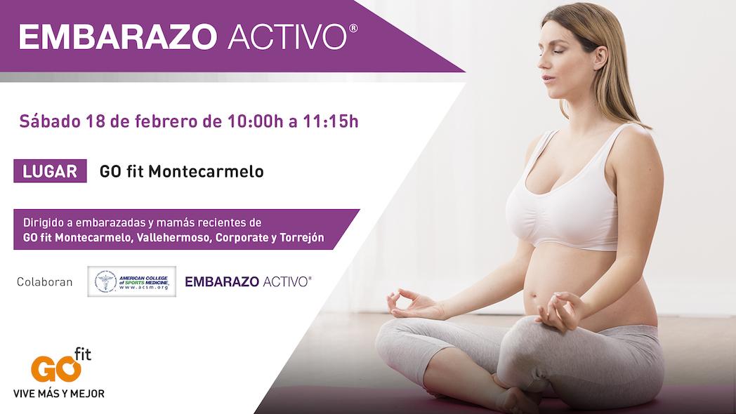 Embarazo Activo realizará una actividad especial en GO fit  Montecarmelo