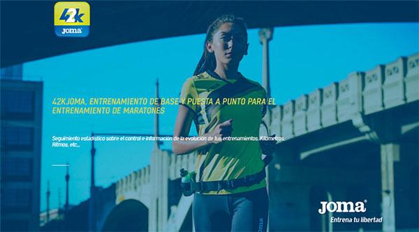 Joma lanza una aplicación personalizada para el entrenamiento de maratones