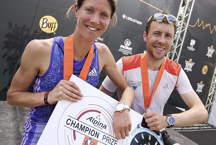 Los campeones del mundo de Kilómetro Vertical, en la Transvulcania
