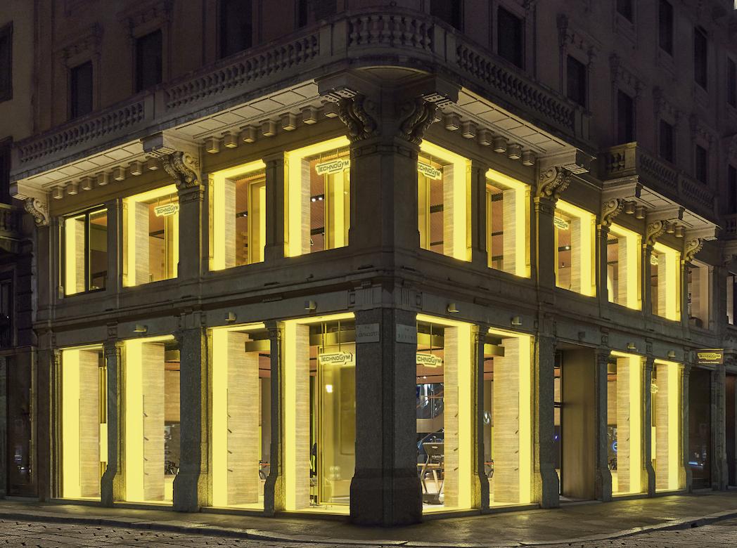 Technogym triplica el espacio de su flagship store en Milán