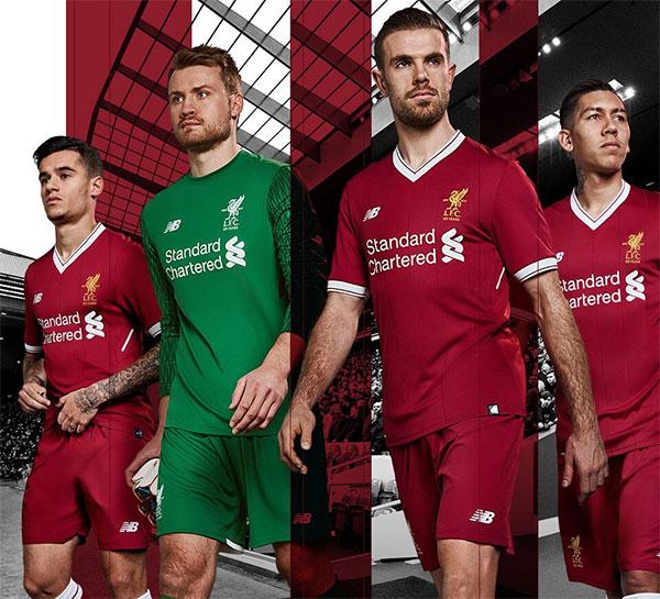 Los 125 años del Liverpool, plasmados en la nueva equipación New Balance