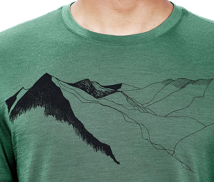 El artista William Carden-Horton plasma sus dibujos en las camisetas Icebreaker