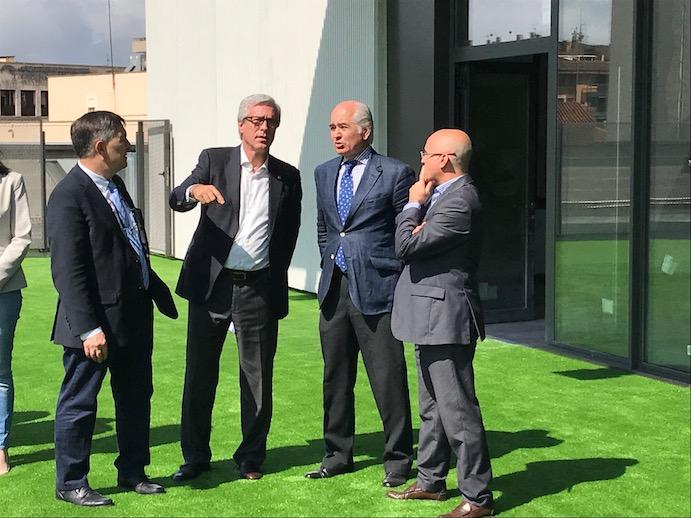 Las autoridades visitan el Viding Fitness Center de Tarragona