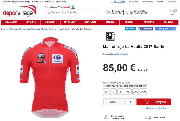 Deporvillage será tienda oficial de La Vuelta los tres próximos años
