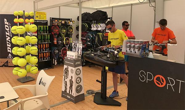 Dunlop se estrena como encordador oficial en un torneo español