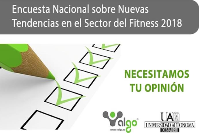 Últimas horas para rellenar la Encuesta Nacional sobre nuevas tendencias fitness 2018