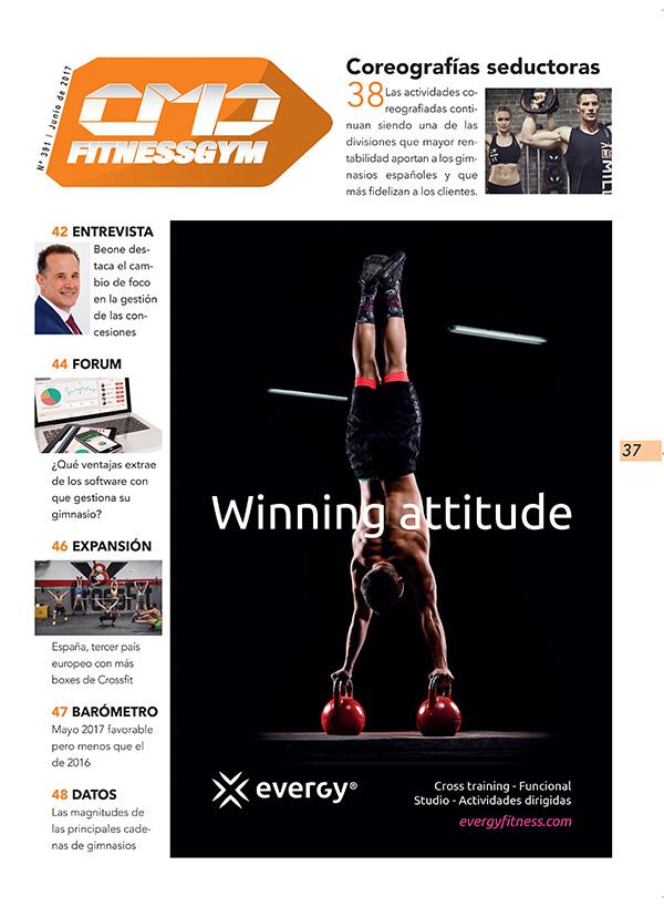 La marca EVERGY es la espónsor principal de la sección FITNESSGYM de la revista impresa CMDsport correspondiente a junio de 2017.