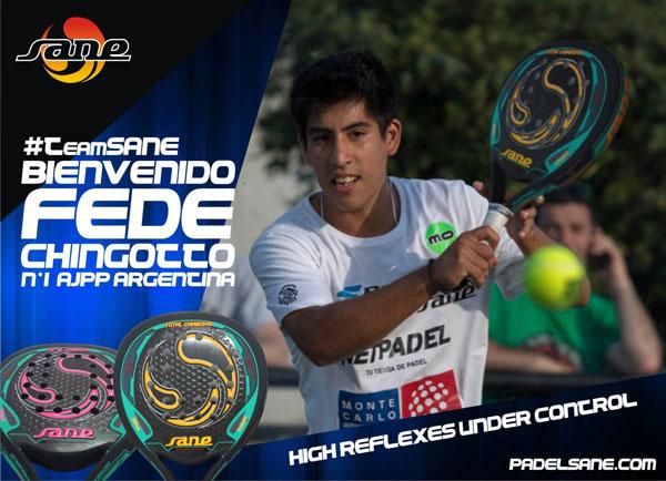 Federico Chingotto, nuevo componente del Team Sane