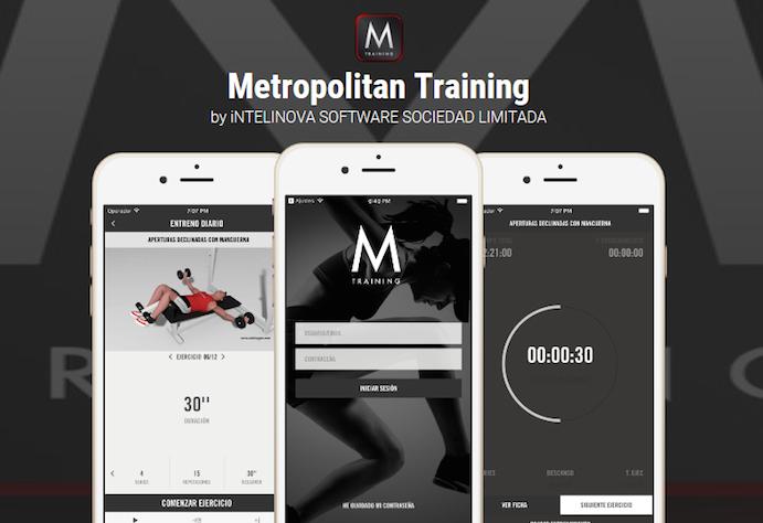 Metropolitan implanta su propia app de entrenamiento