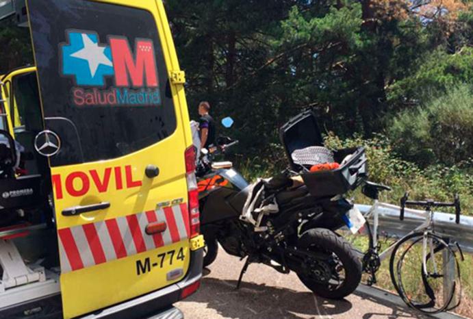 Fallece un ciclista en Madrid tras colisionar con una moto