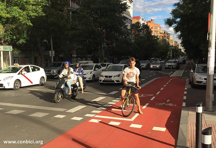 ConBici reclama una red de vías ciclistas de calidad en Madrid