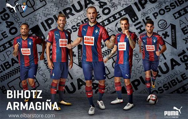 Puma y el Eibar presentan su nueva piel para 2017/18